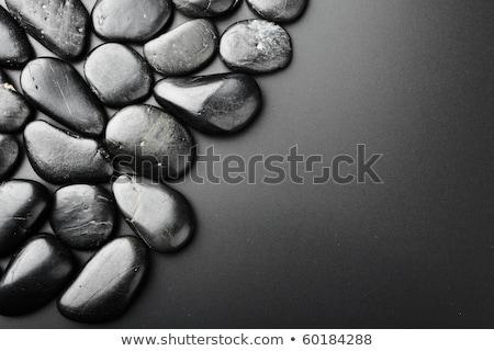 evenwichtige · zwarte · stenen · spa · hot · handdoek - stockfoto © jamesS