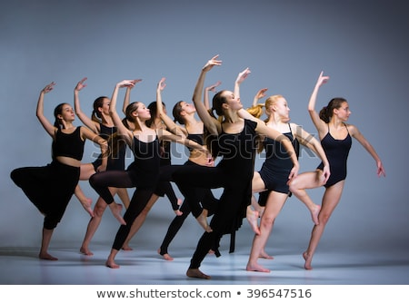 Ballerina jonge vrouw dans studio mode sport Stockfoto © ElenaBatkova