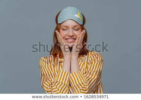 Satisfecho mujer saludable pecoso piel Foto stock © vkstudio
