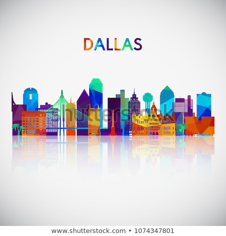 Abstract Dallas Skyline with Color Buildings.  Stock photo © ShustrikS