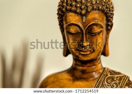 Buda heykel yüz panoramik görüntü Stok fotoğraf © dmitry_rukhlenko
