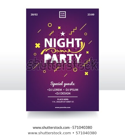 ночь Dance вечеринка Creative рекламный баннер Сток-фото © pikepicture