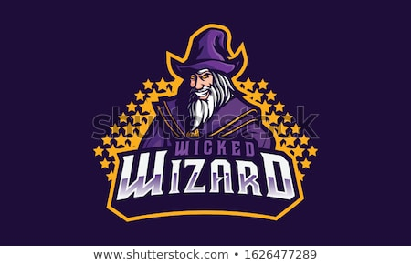 Wicked wizards logo on white background Stock photo © bluering