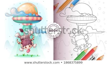 Ufo stier poster vector eps 10 Stockfoto © rwgusev