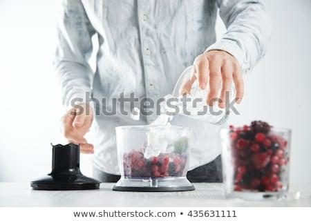 some raspberries near a milkshake stock photo © Rob_Stark