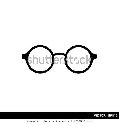 Okulary do czytania biały oka projektu kontakt plastikowe Zdjęcia stock © mblach