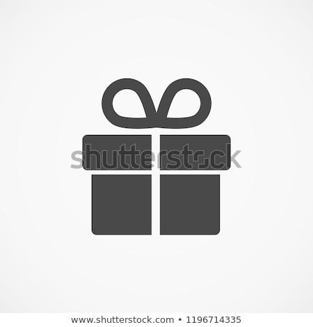 abstract gift icon stock photo © pathakdesigner