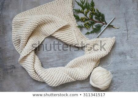 Knitted scarf 3 Stock photo © RuslanOmega