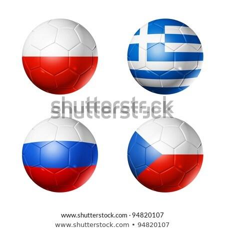Czech Republic Soccer Ball ストックフォト © Daboost