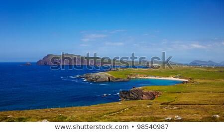 Stock fotó: Fej · félsziget · Írország · nyár · óceán · Európa