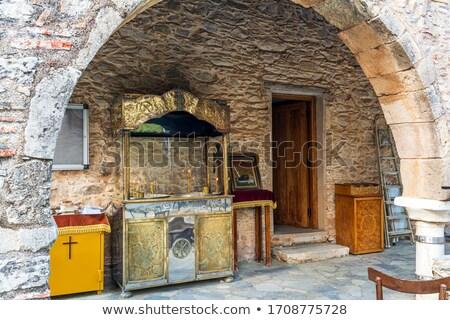 Aziz ikon soyut İsa kilise İncil Stok fotoğraf © silent47