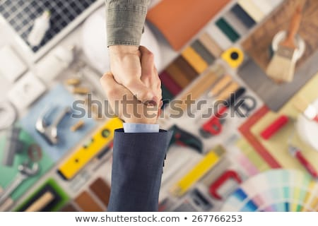 Decorator and designer shaking hands Stock photo © photography33