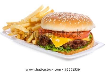 klassiek · hamburger · kaas · tomaat · salade - stockfoto © 3523studio