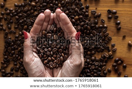 woman with coffee beans stock photo © anna_om
