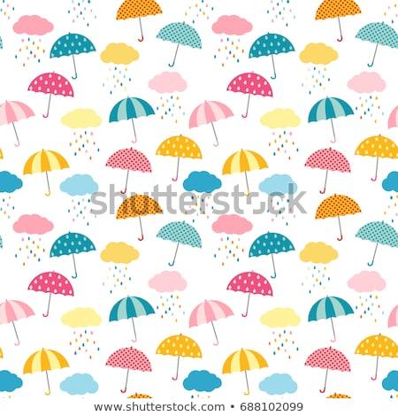 Seamless Pattern With Umbrellas Stockfoto © Pravokrugulnik