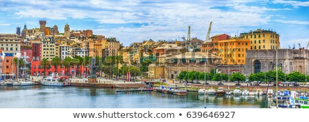 Panorama of the Genova port in Italy. Stock photo © 5xinc