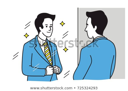 Cartoon smiling businessman looking confident Stock photo © antonbrand