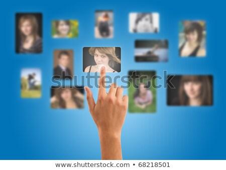 Homme portraits galerie isolé Photo stock © ra2studio
