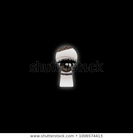 trancar · ícone · escuro · azul · isolado · preto - foto stock © zeffss