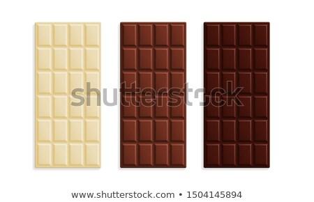 チョコレート タブレット 孤立した 白 デザイン 背景 ストックフォト © FOKA