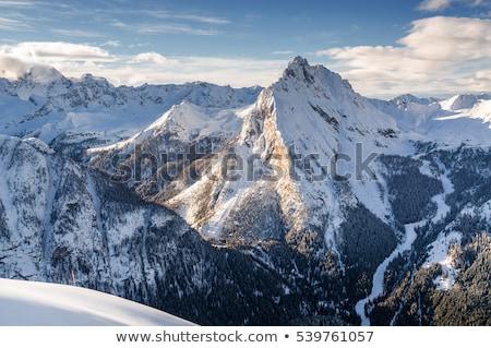 Val di Fassa aerial view Stock photo © Antonio-S