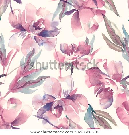 Résumé coloré floral heureux anniversaire fond Photo stock © rioillustrator