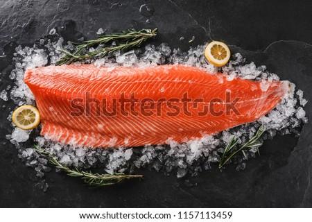 Fresco frutos do mar gelo horizontal foto Foto stock © tab62