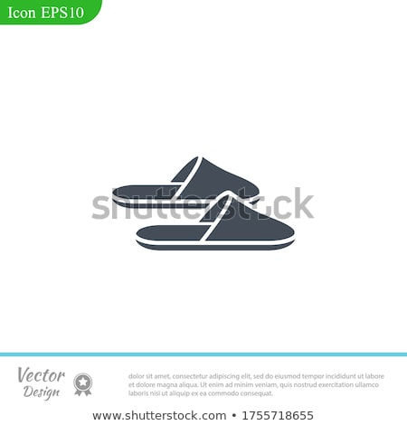 Vector icon slippers Stock photo © zzve