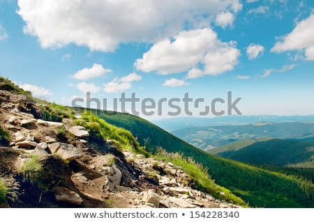 Mountain view from the top of Goverli, Carpathians Stock photo © alinamd