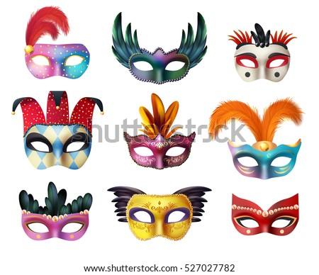 Karnaval maske gölge mavi renk fantezi Stok fotoğraf © joruba