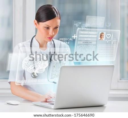 女性 · 医師 · 心臓専門医 · 作業 · 病院 · 女性 - ストックフォト © hasloo