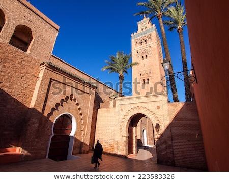 минарет · мечети · центр · Марокко · закат · путешествия - Сток-фото © haraldmuc