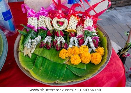 Güller Bangkok çiçekler sevmek yol Stok fotoğraf © meinzahn