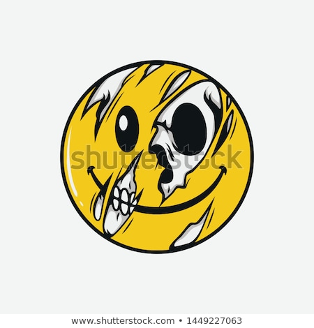 Comic human skull stock photo © Concluserat