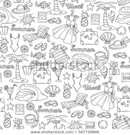 seamless pattern with color sun glasses stock photo © elenapro