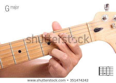 gitaar · klassiek · muziek · man · microfoon - stockfoto © jackethead