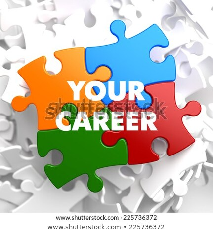 Your Career on Multicolor Puzzle. Stock photo © tashatuvango