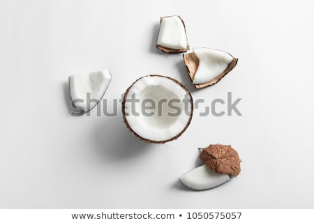 Isolated coconut on white background stock photo © njnightsky