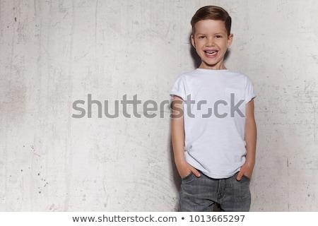 cute boy with shirt stock photo © Dave_pot