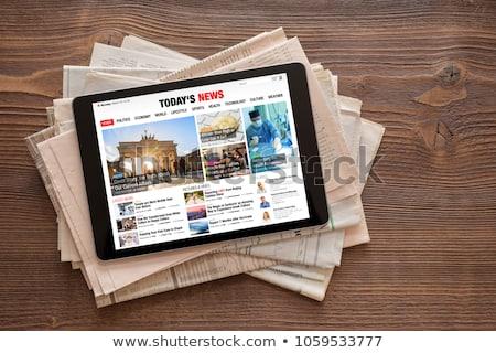 online · nieuws · zwarte · knop · illustratie - stockfoto © make