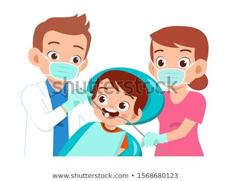 Tandheelkundige ingreep tanden hand arts kind Stockfoto © dotshock