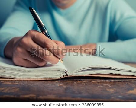 Mode élèves écrit notepad collège femme Photo stock © wavebreak_media