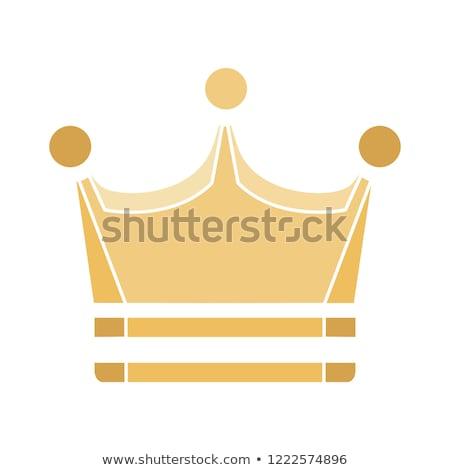 Crown golden Vector Icon Design Stock photo © rizwanali3d