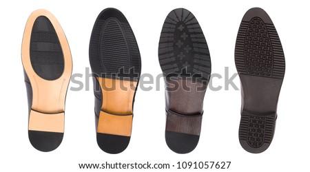 Fondo scarpe isolato bianco piano timbro Foto d'archivio © ozaiachin