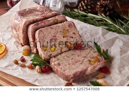 máj · szalonna · sonka · szeletek · vágódeszka · étel - stock fotó © digifoodstock