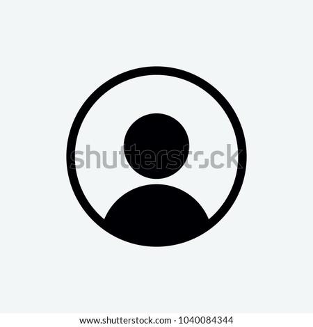 Profilo icona blu app illustrazione bianco Foto d'archivio © make