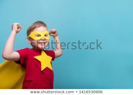 Little boy in superhero costume Stock photo © bluering