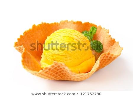 gegrild · ananas · ijs · vanille · vruchten · vork - stockfoto © digifoodstock