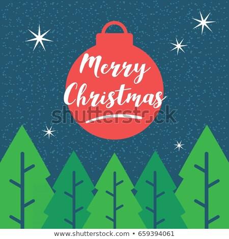 Vrolijk tekst glimlach abstract sneeuw Stockfoto © rioillustrator