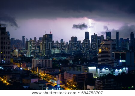 Thunderstorm in a city Stock photo © joyr
